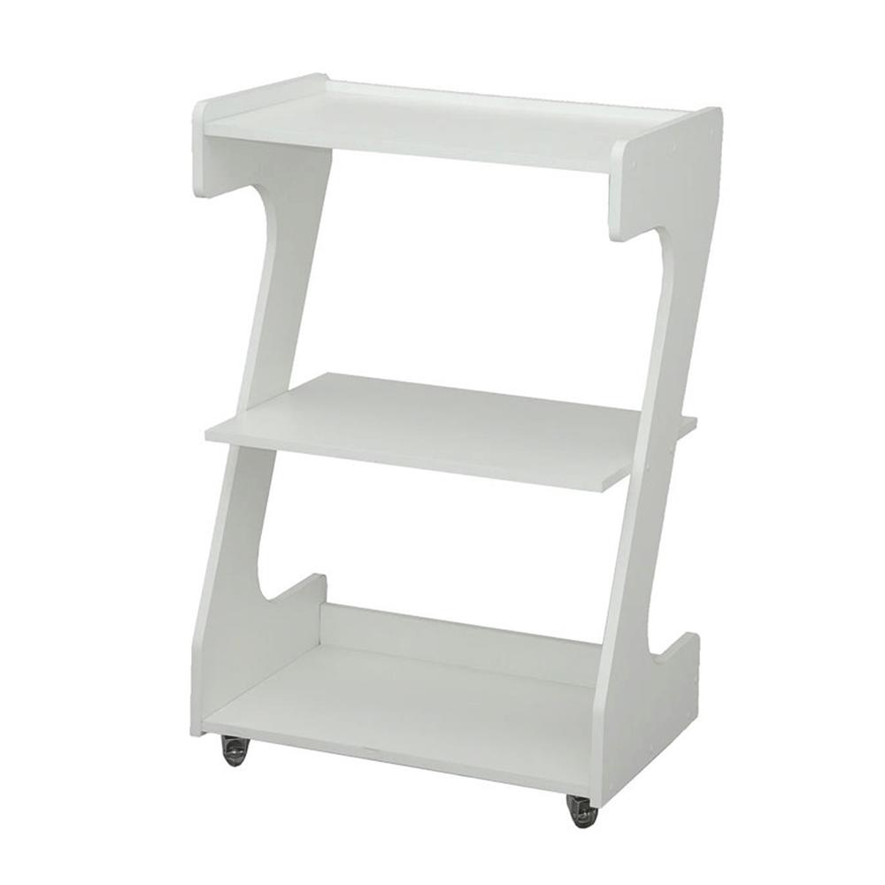 Mesa Carrinho De Madeira Para Clinicas Em Z Branco
