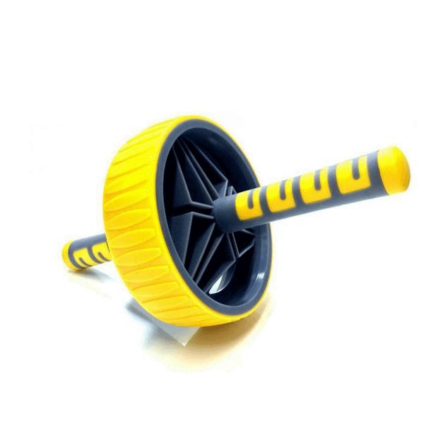 roda-para-exercicios-abdominais-amarela